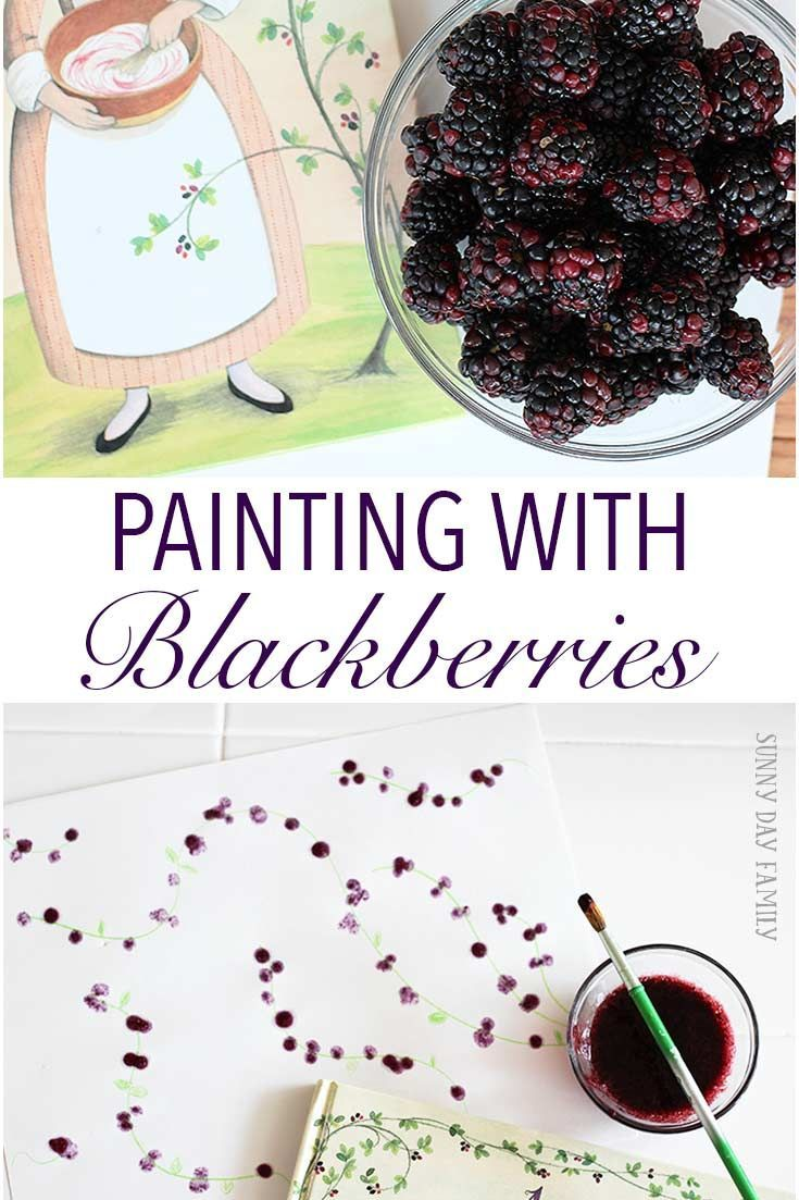 paint with fresh blackberries a fun craft for kids thats perfect for berry season