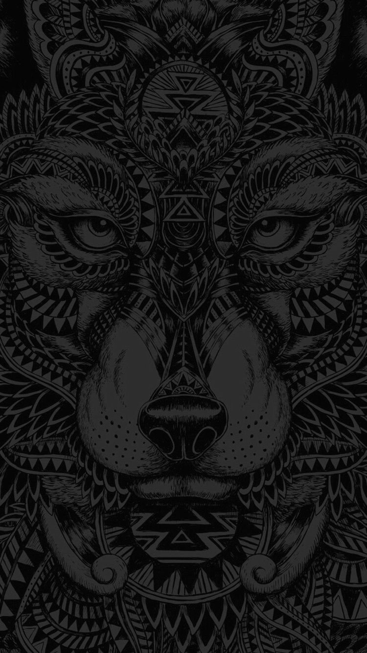 Black Wolf Iphone 6 6s Wallpaper Patterns Geometry Wallpaper Iphone Drawing Black Grey Gray Wolf An Dark Wallpaper Iphone Wolf Wallpaper Phone Art