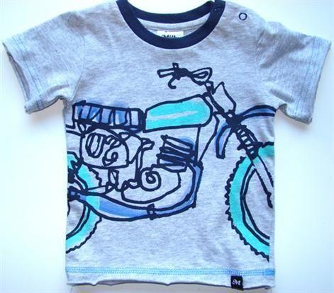 Designer Baby Boy Clothing Milky Outline Bike Tee Price 17 95