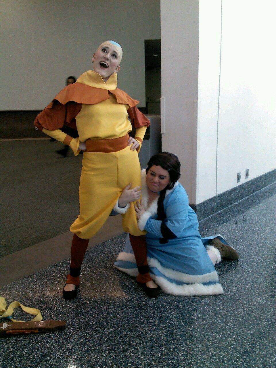 Ember Island Players Aang and Katara cosplay. Perfection
