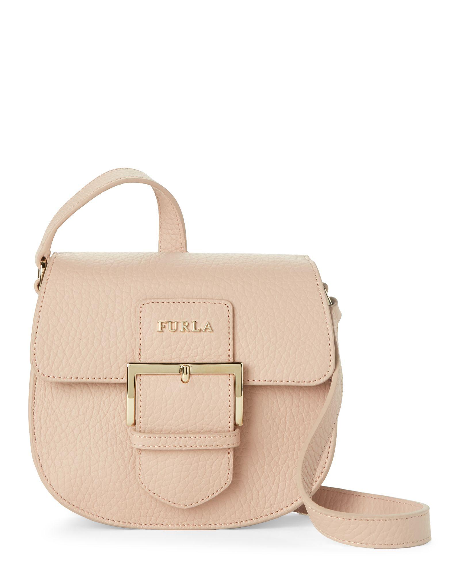 755ff9884eb8 Furla Moonstone Leather Flo Mini Saddle Bag Crossbody