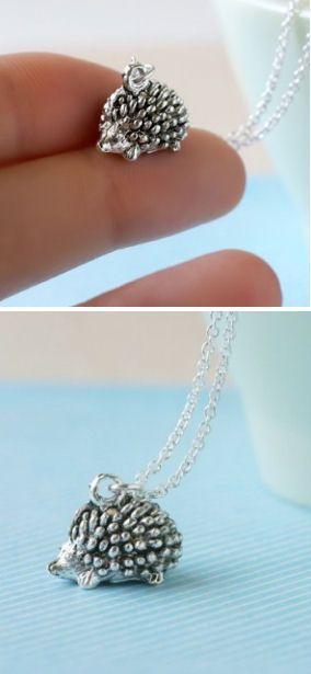 Tiny Hedgehog Necklace ♥ cUte!