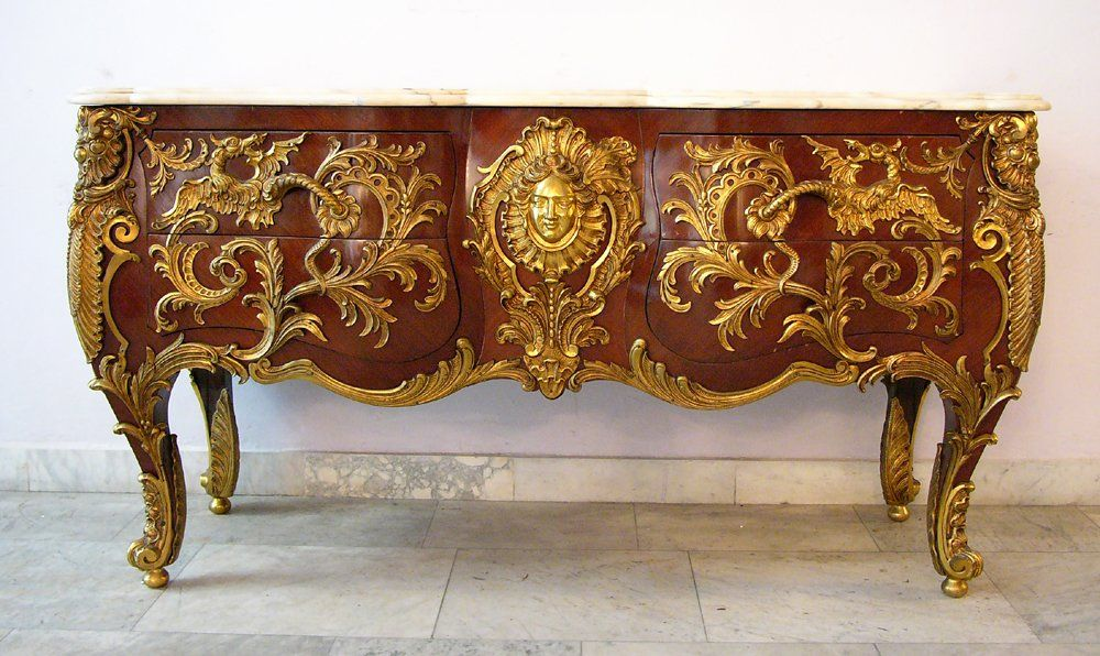 Charles Cressent (1685\u20131768)-after, commode with dragon #barroco