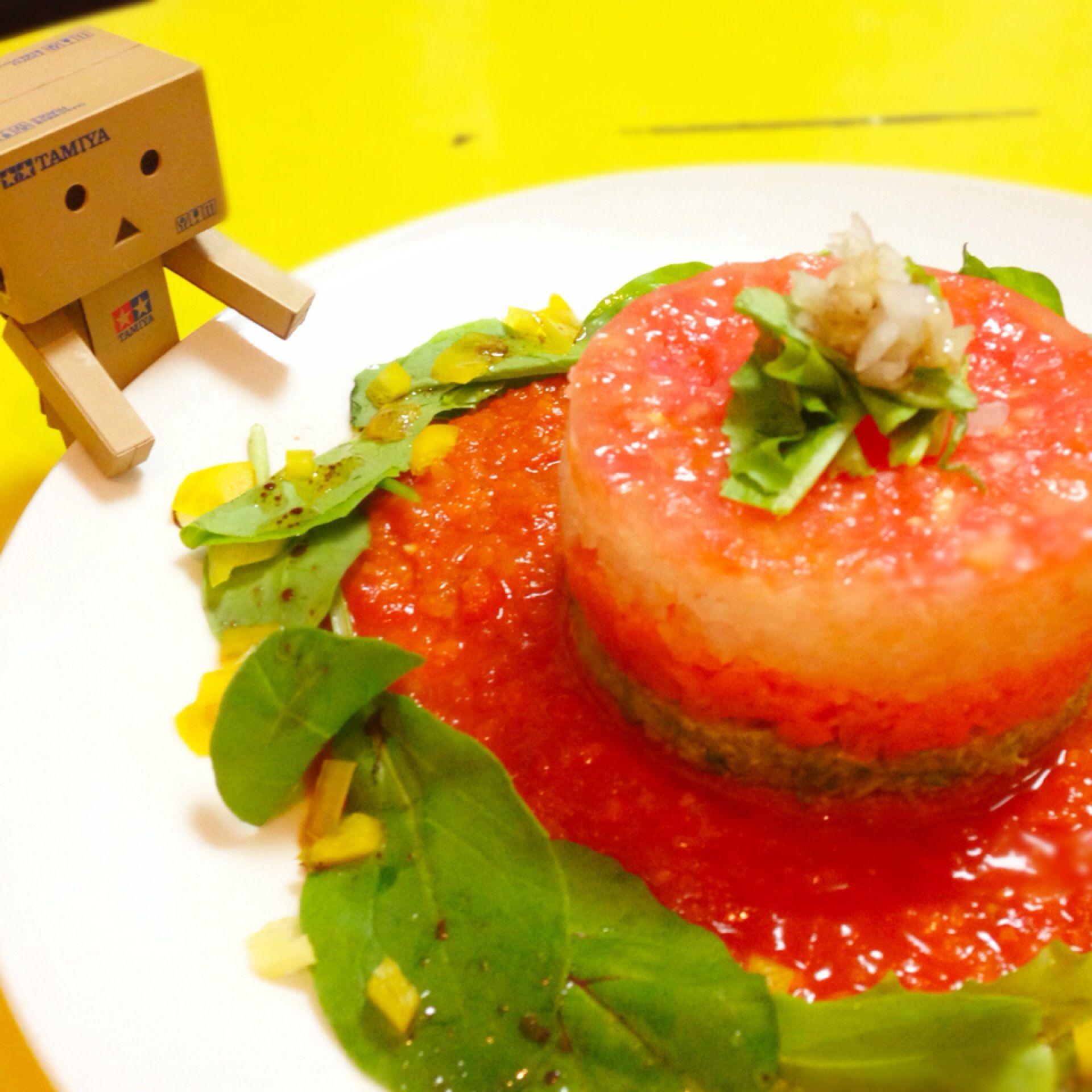 ハムと野菜四種のミルフィーユサラダ(๑′ᴗ‵๑)