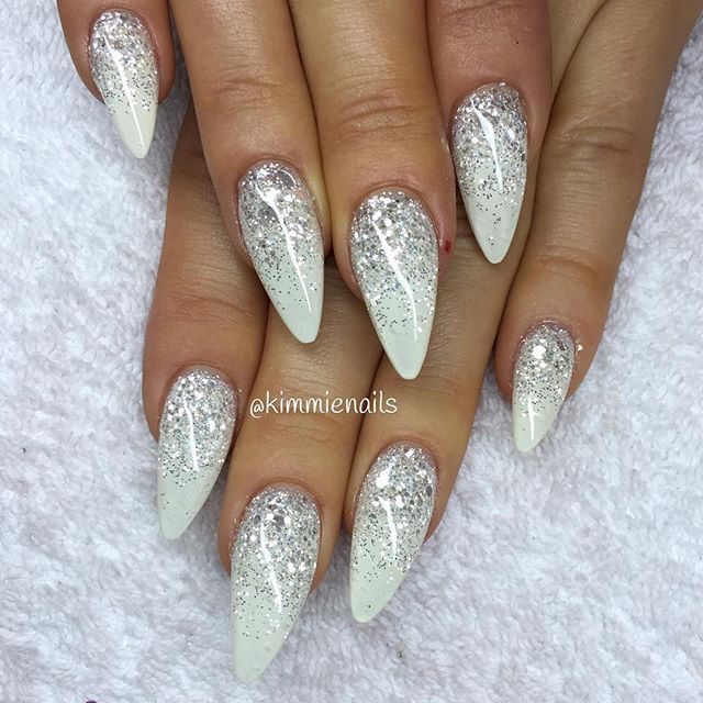 A Little Too Pointy For My Taste But I Love The White With Glitter