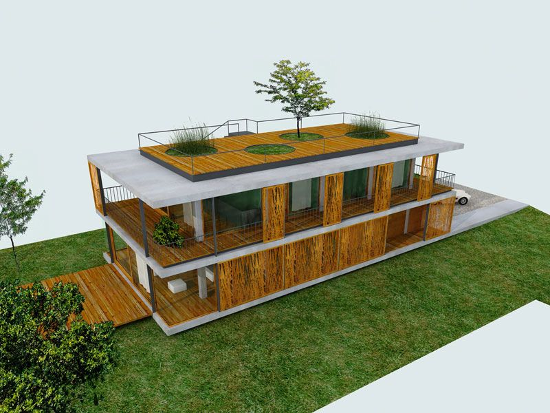 Plans du0027une maison contemporaine avec toit terrasse Tiny house