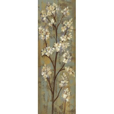 "Star Creations ""Almond Branch I"" by Silvia Vassileva Painting Print on Wrapped Canvas Size:"