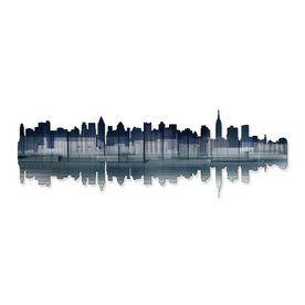 Designart New York City Skyline Photography Metal Wall Art Lowes Com In 2021 City Skyline Skyline City Wall Art