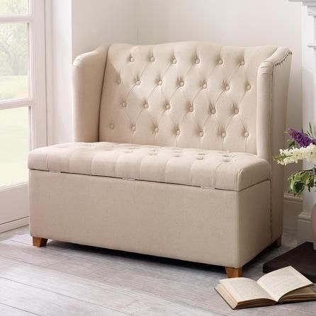Cream Antoinette Ottoman Bench Seat Dunelm For The Home Storage Bench Seating