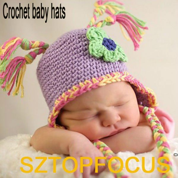 Crochet Patrones Que Hacen Punto Sombrero Animal Para El Bebé Recién ...