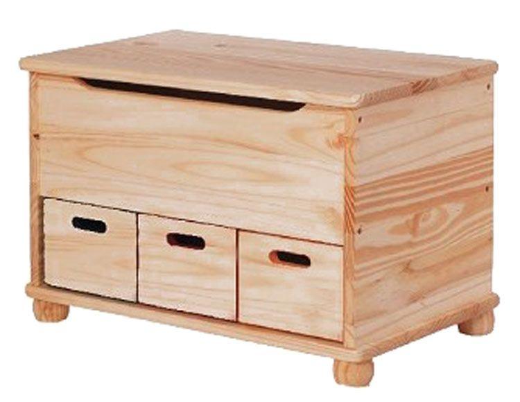 Baúl de madera 3 CAJONES Ref. 17587374 - Leroy Merlin | Sillas de ...