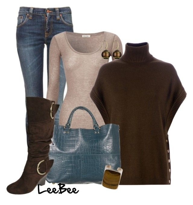 """""""Buckle Up Brown"""" by leebee11 ❤ liked on Polyvore featuring Nudie Jeans Co., American Vintage, Givenchy, Adi Designs, Murano 1291 and Jody Candrian"""