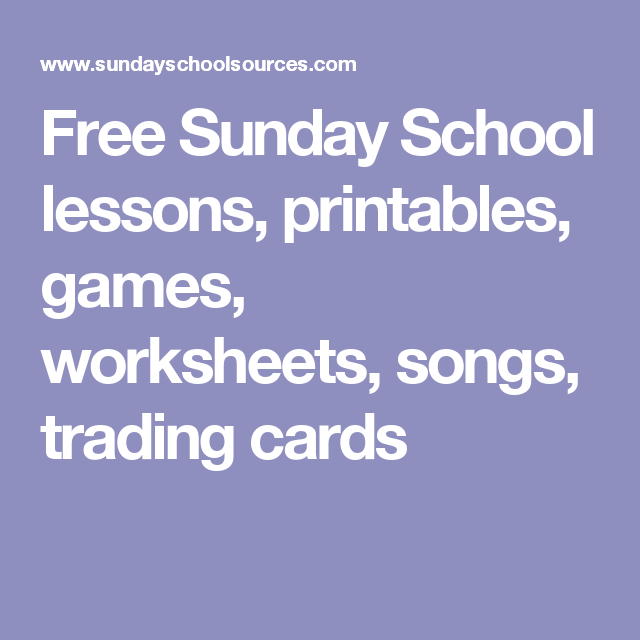 photo about Free Printable Sunday School Lessons for Youth referred to as Free of charge Sunday College courses, printables, online games, worksheets
