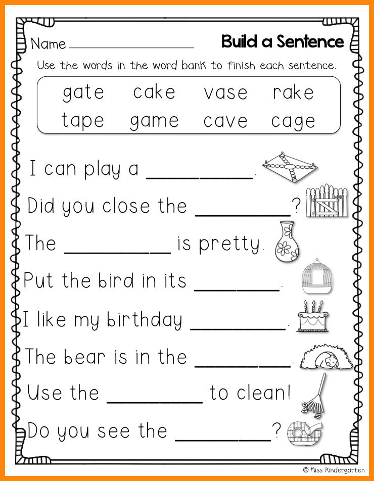 10+ kindergarten sentence writing math cover 1st grade