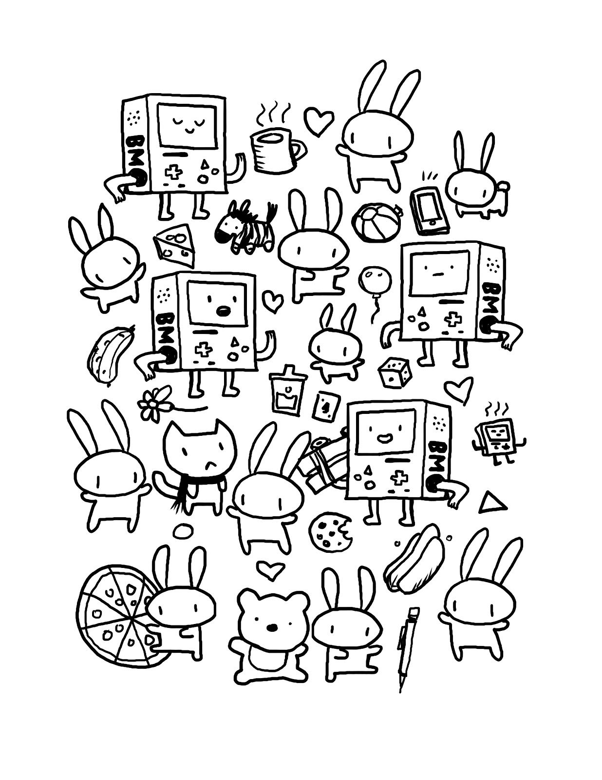 - Kawaii Coloring Pages Doodle Coloring, Cute Coloring Pages