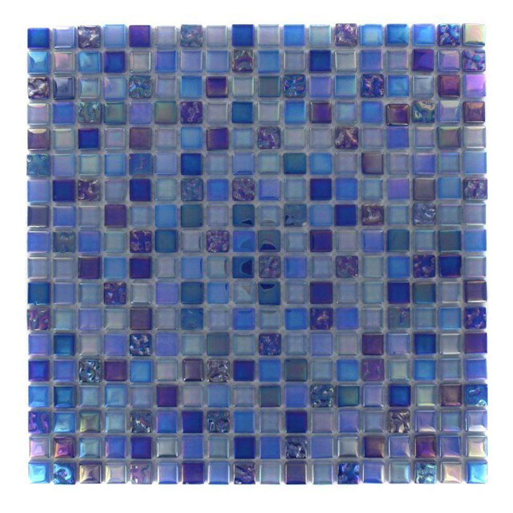 Splashback Tile Capriccio Battipaglia 12 in. x 12 in. x 8 mm Glass ...