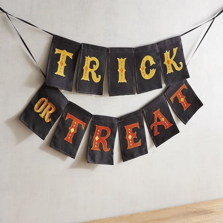 Trick or Treat Halloween banner decoration Halloween party decor - decorating for halloween party