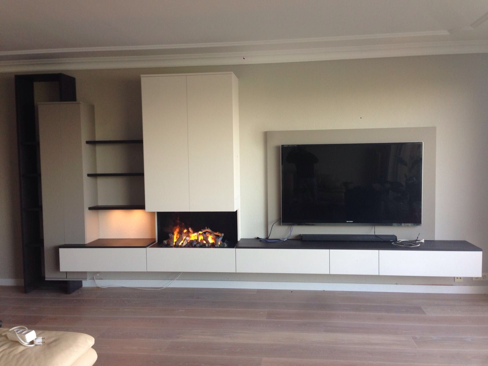 cool fireplace and tv bos Google Search