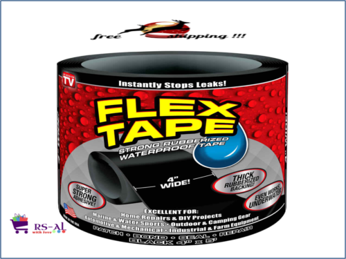 New Flex Tape Black 4 039 039 X5 039 Strong Rubberized Top Quality Flexible As Seen On Tv Waterproof Tape Repair Tape Flex Seal Tape
