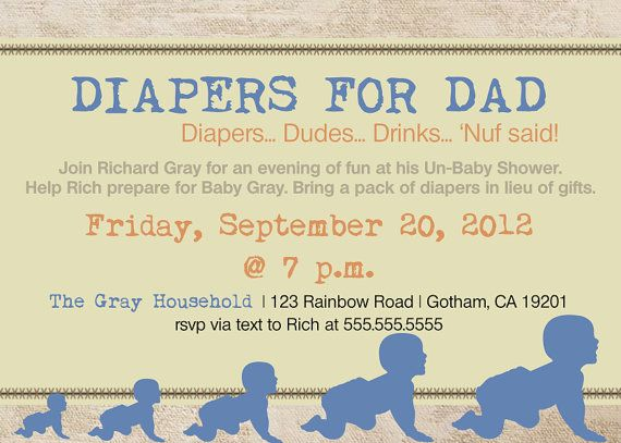 diaper party invitation, diaper and beers, beer and diaper, men, Party invitations