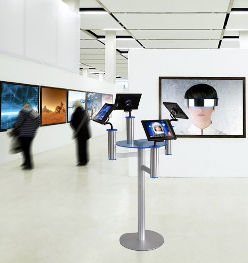 Ipad Exhibition Stand Hire : I pad stand from discountdisplays used in a gallery ipad