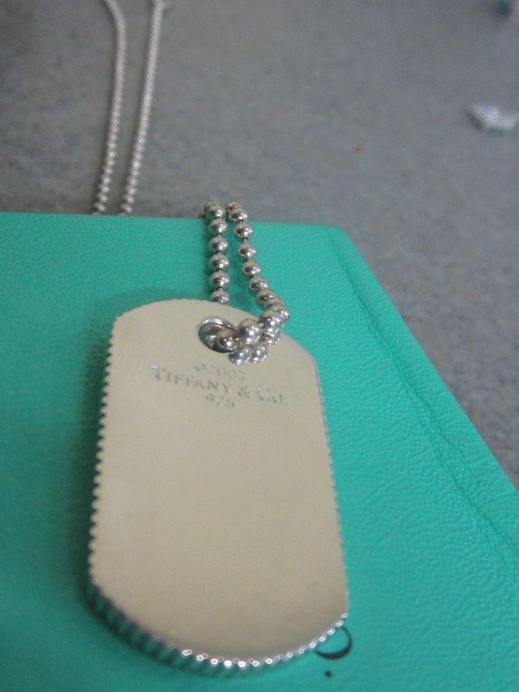 bdc9a41b4 Tiffany & Co. Sterling Silver Coin Edge Dog Tag Pendant 20