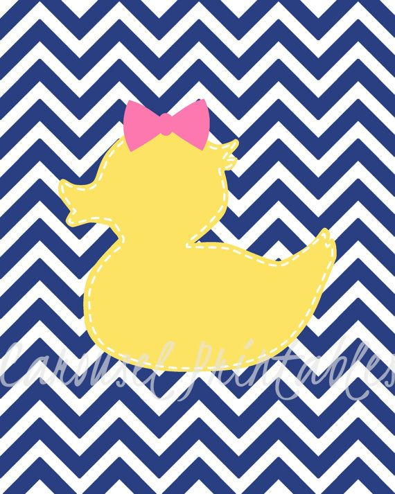 Rubber Duck Wall Art Bathroom Wall by CarouselPrintables on Etsy ...