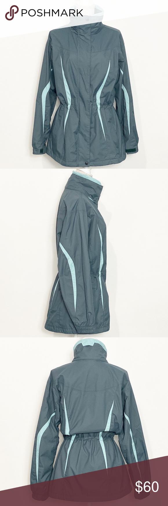 Columbia Jacket Size Large Columbia Waterproof Jacket Waterproof Omni Tech Sealant Fully Lined Zip Snap Closure Windbreaker Jacket Jackets Clothes Design