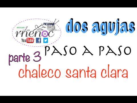Chaleco Tejido Dos Agujas Palillos parte 3, Knitting Vest easy design DIY