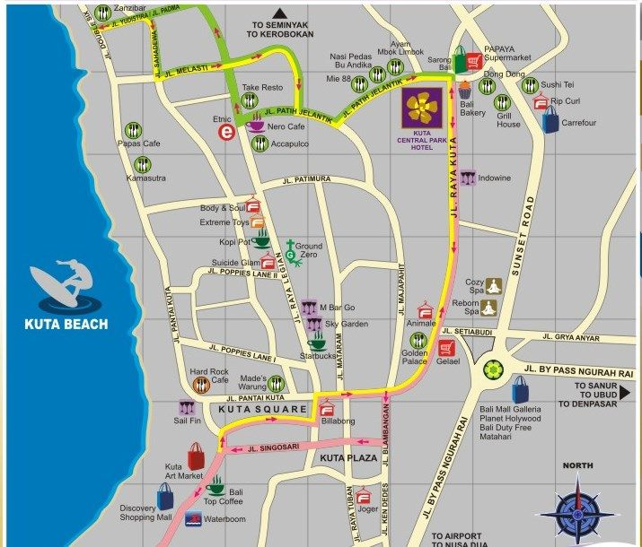 Map Of Hotel In Kuta