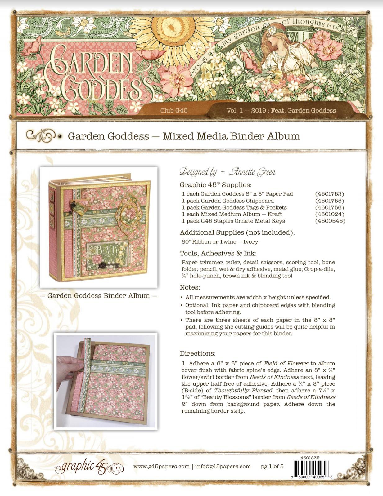 Club G45 2019 - Volume 01 This Garden Goddess binder is specially