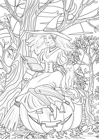 Preparing For Halloween Favoreads Coloring Club Witch Coloring Pages Fairy Coloring Pages Free Coloring Pages