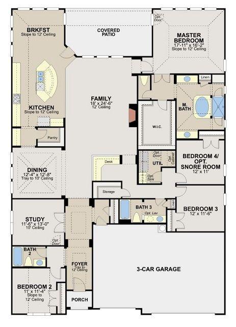 Low Maintenance Garden Homes Single Family Homes Estate Homes My House Plans Home Design Floor Plans Barndominium Floor Plans