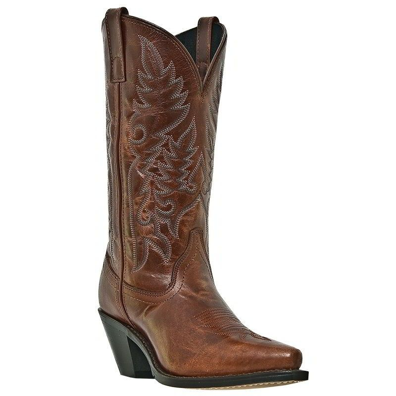 Laredo Madison Burnt Orange Leather Women's Cowboy Boots 51059 ...