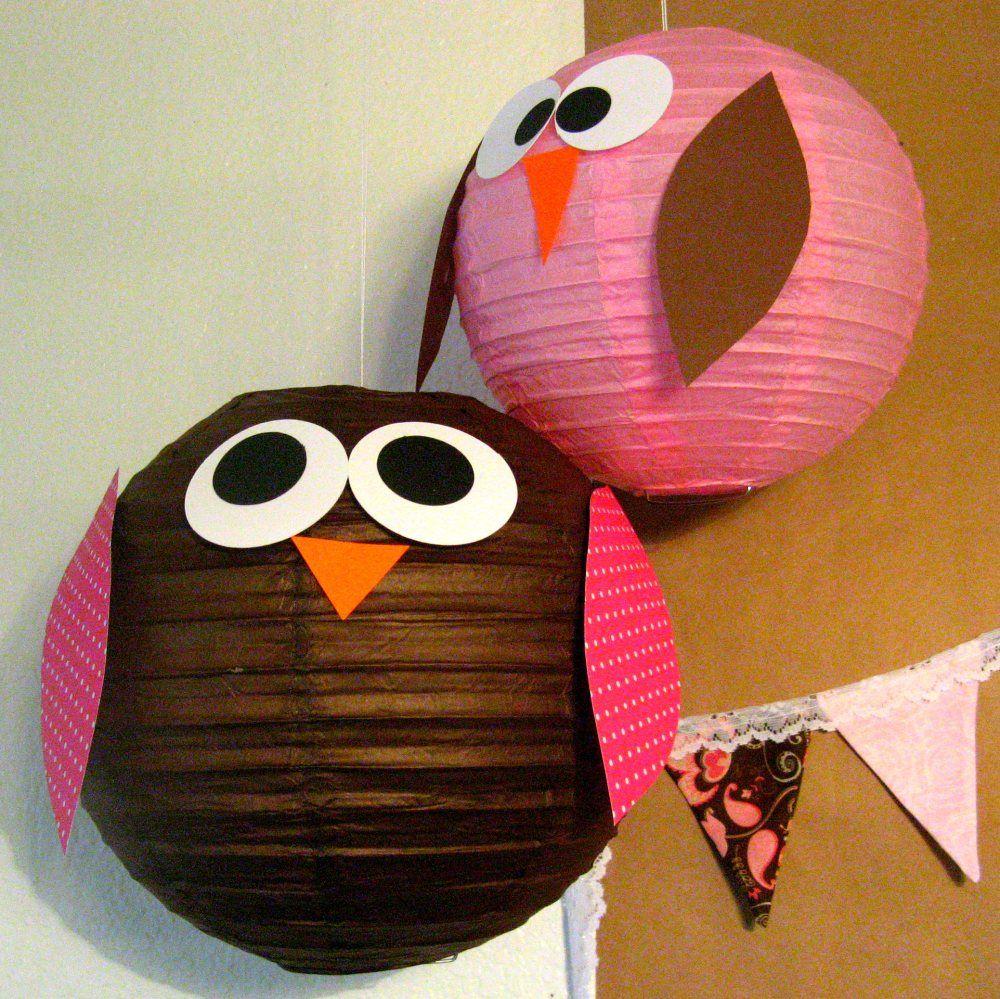 Owl Paper Lanterns Paper Lantern Owl Diy Owl Decorations Owl
