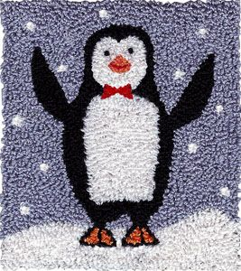 "Meet Nelson, a perfectly jolly party penguin, whose many talents include magic tricks and juggling peppermints, popcorn and cranberries during the holidays.  Pattern includes directions for making this design into a Punchneedle Patch(TM) for adorning baskets, purses and clothing.Finished Punchneedle Size: 3-1/2"" H x 3"" W"