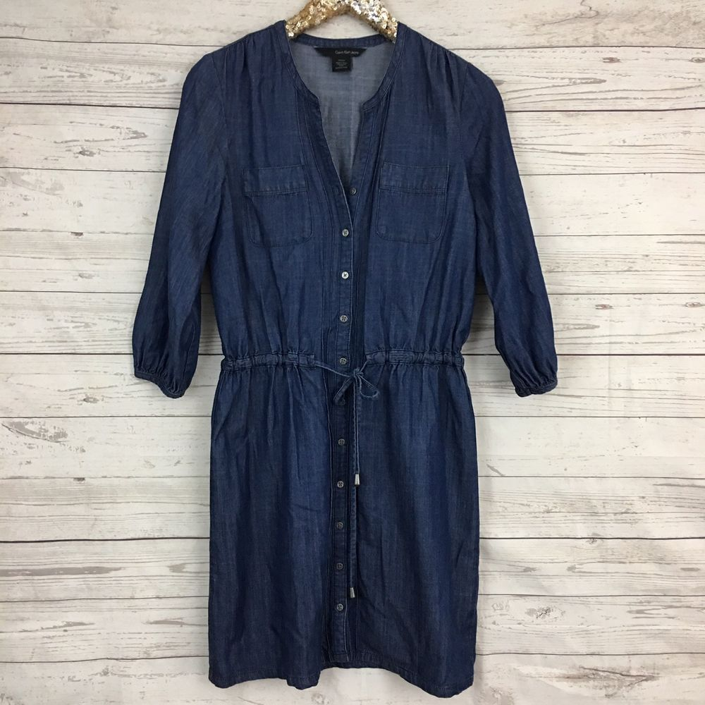 e83fa4cef0  DenimDress Calvin Klein Jeans sz S Denim Chambray Shirt Dress Indigo Dark  Drawstring F698 - Denim Dress  39.95 End Date  Monday Nov-26-2018 7 00 32  PST Buy ...