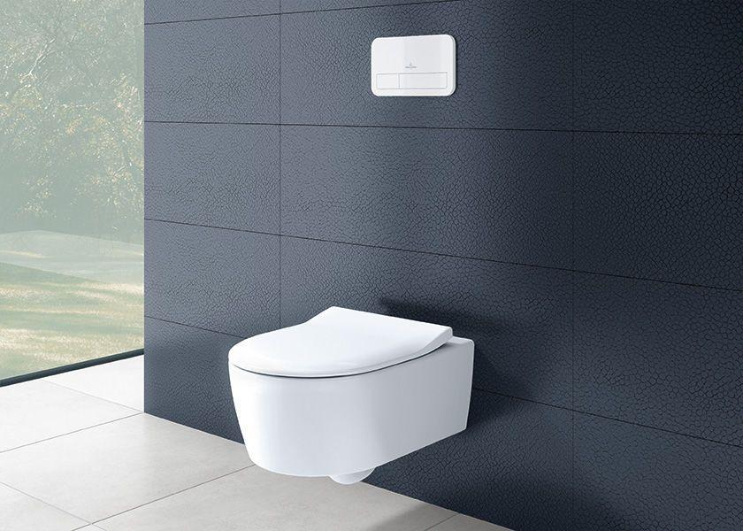 Wall-hung toilet \/ ceramic \/ rimless - AVENTO - Villeroy \ Boch