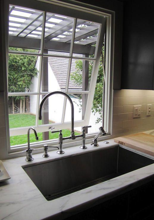 Beautiful Kitchen With Undermount Kohler Stainless Steel Sink Kitchen Sink Window Large Kitchen Sinks Corner Sink Kitchen