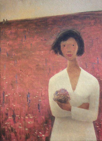Le champ de trèfles, 19xx, Jean Paul Lemieux | CANADIAN ART ...