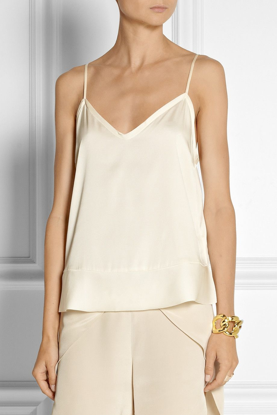 By Malene Birger | Kirah stretch-silk camisole | NET-A-PORTER.COM