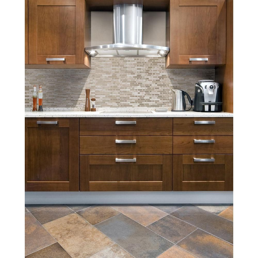 Smart Tiles 10 25 In X 10 In Bellagio Mosaic Decorative Wall Tile In Sabia 6 Pack Sm1043 6 T Smart Tiles Kitchen Backsplash Peel And Stick Brown Kitchens