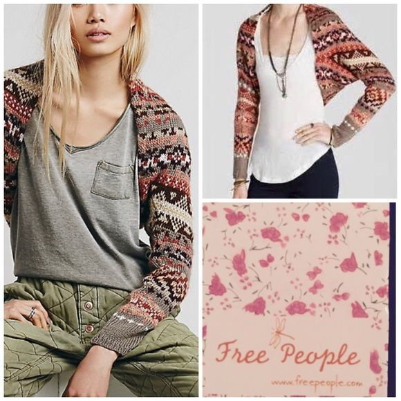 Sale 1 Hr Loose Knit free People Cardigan Shrug Nwt free people fair isle  knit shrug such a great layering piece Free People Sweaters 75c9b7413