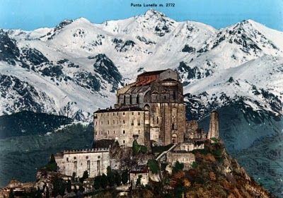 The oldest and most famous place of Archangel Michael worship in the west, that is the Sanctuary of San Michele in Monte Sant'Angelo, was erected on the promontory of Gargano in the fifth century. Sacra di San Michele, Turin
