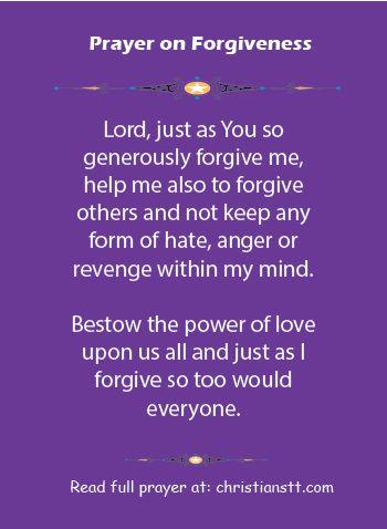 A Prayer of Forgiveness | † Catholic Faith | Prayer for