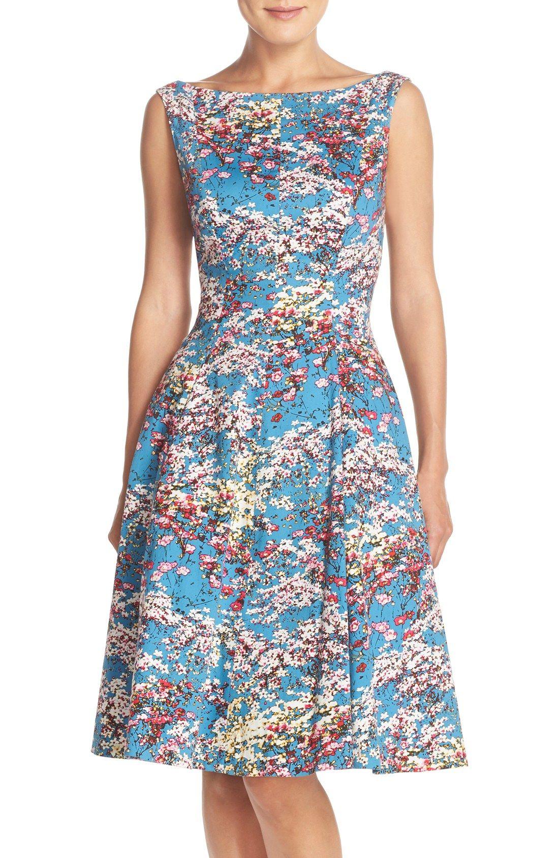 73e6538989d56 Maggy London Floral Fit   Flare Dress (Regular   Petite)