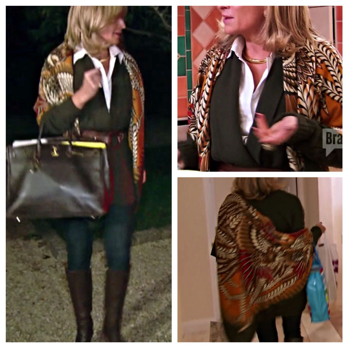 c686f0eef4e Real Housewives of NY s Sonja Morgan and a gorgeous Hermès shawl ...