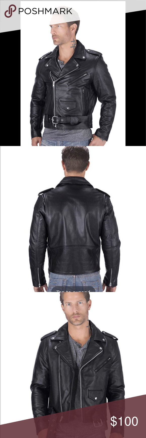 Interstate Leather Classic Motorcycle Jacket Sz Xl Jackets Leather Classic Motorcycles [ 1740 x 580 Pixel ]