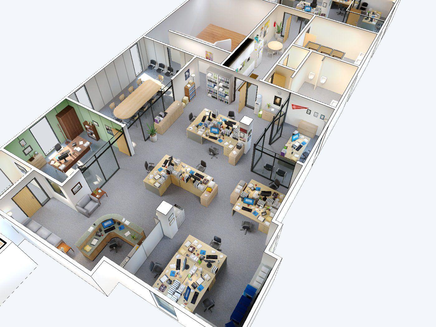 The Office A Fully 3d Walk Navigable Version Of Dunder Mifflin