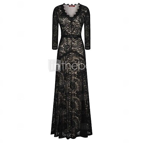 Light in the box long black dress
